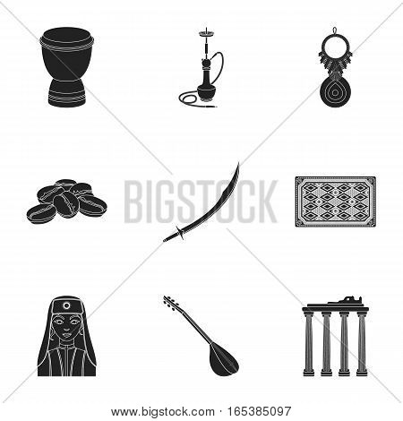 Turkey set icons in black style. Big collection of Turkey vector symbol stock