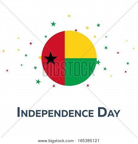 Independence Day Of Guinea-bissau. Patriotic Banner. Vector Illustration.