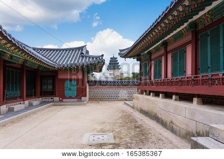 Gyeongbokgung Palace traditional in Seoul South Korea