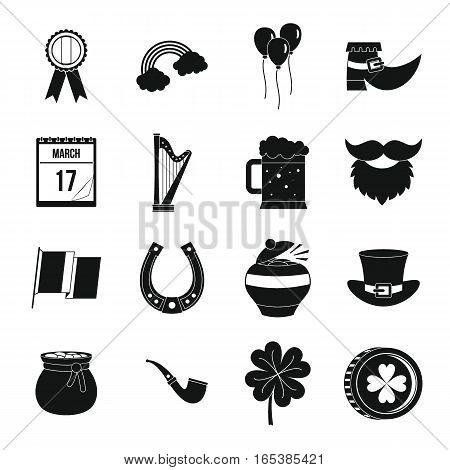 Saint Patrick icons set. Simple illustration of 16 Saint Patrick vector icons for web