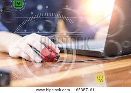 Businessman Hand Working With New Modern Computer And Business Strategy As Concept.