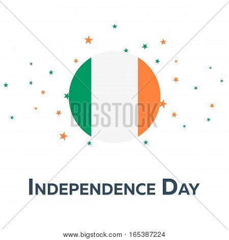Independence Day Of Ireland. Patriotic Banner. Vector Illustration.