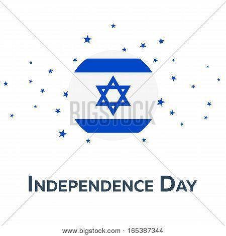 Independence Day Of Israel. Patriotic Banner. Vector Illustration.