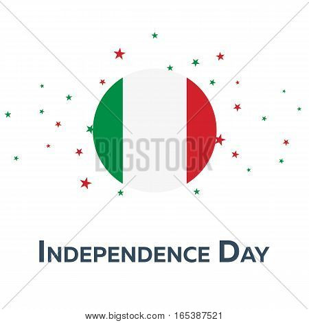 Independence Day Of Italy. Patriotic Banner. Vector Illustration.