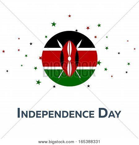 Independence Day Of Kenya. Patriotic Banner. Vector Illustration.