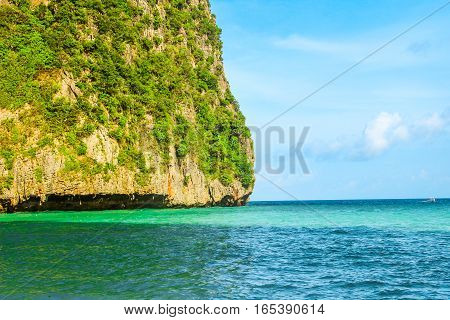 The beach Maya Bay, Phi Phi island, Thailand