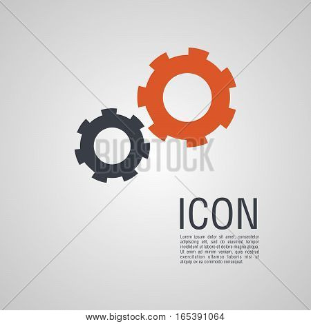 Vector Icons In The Form Of Gears.