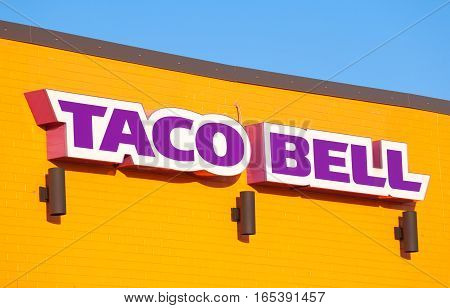 STEWIACKE CANADA - JANUARY 16 2017: Taco Bell is a fast food restaurant chain based in California.