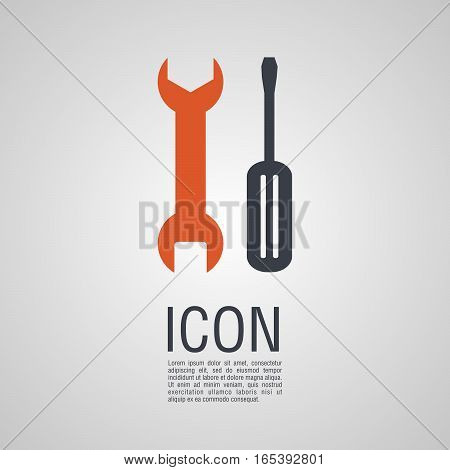 Vector Icons In The Form Of Wrench And Screwdriver.