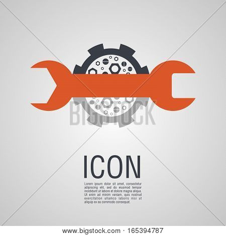 Vector Icons In The Form Of A Wrench And Nuts.