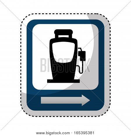 traffic signal station service location vector illustration design