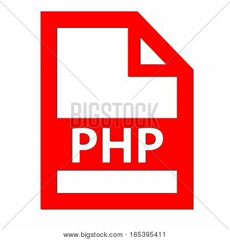 PHP file icon with a white background