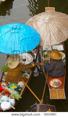Two Boatstwo Umbrellas