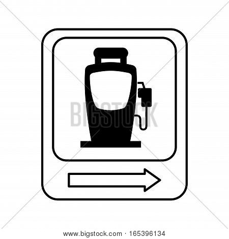 traffic signal station service location vector illustration design