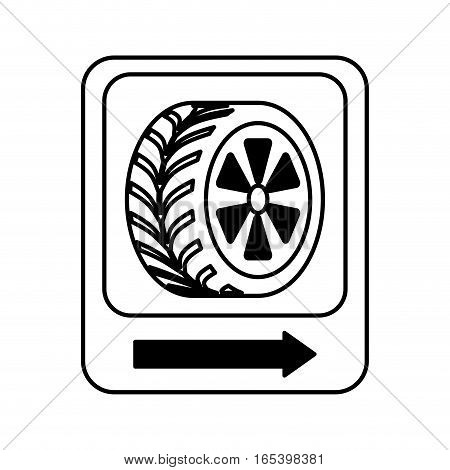 traffic signal car tire location vector illustration design