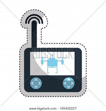 drone remote control isolated icon vector illustration design