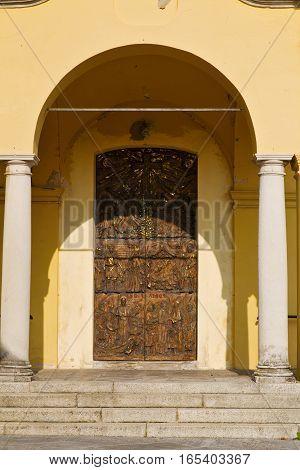 Door   Italy  Lombardy   Column  The