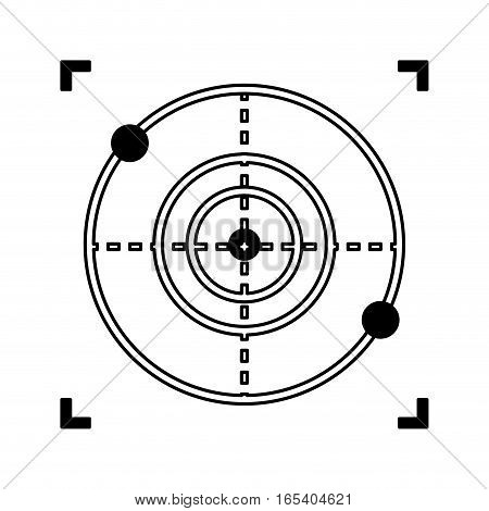 drone target isolated icon vector illustration design