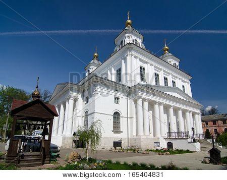 YAROSLAVL RUSSIA - MAY 8 2016: The Kazan women's monastery in Yaroslavl Russia. Golden ring of Russia.