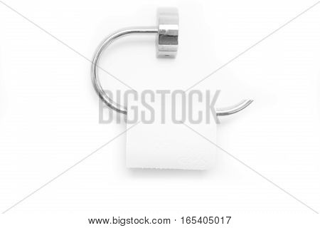 Half a roll of toilet paper isolated on white