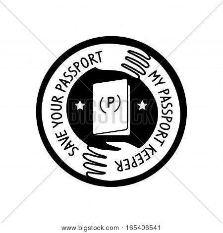 care of your passport logo, vectol illustration