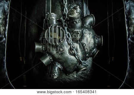 Heart Of Steel Made In Steam Punk Style.
