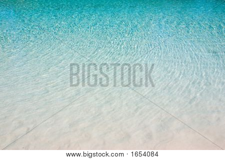 Blue Water Ripples On White Sand