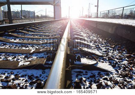 Empty Railway Station Platform