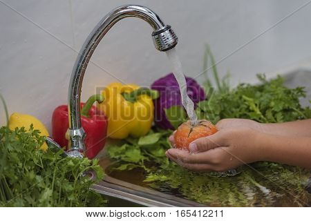 Wash Fruits And Vegetables