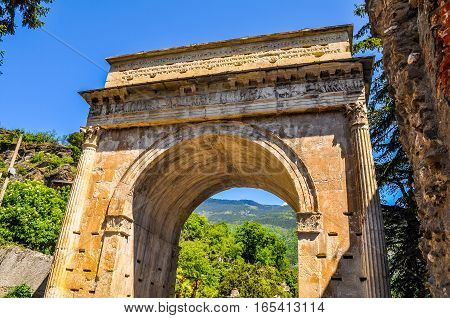 Hdr Augustus Arch In Susa