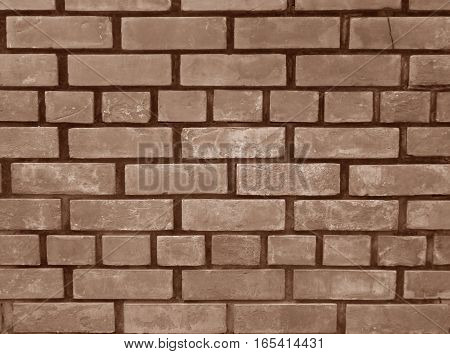 Sepia Tone of Terracotta Bricks Wall, Background