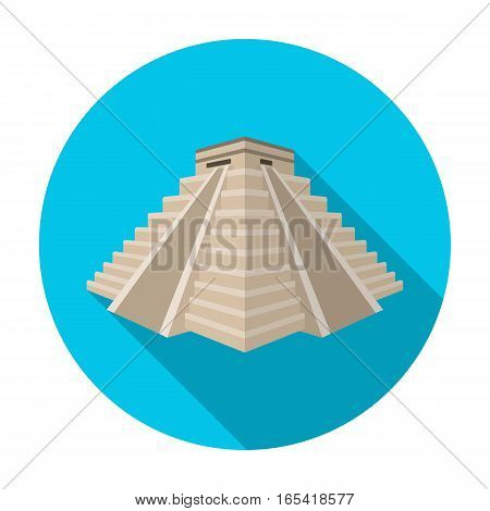 Chichen Itza icon in flat design isolated on white background. Countries symbol vector illustration.