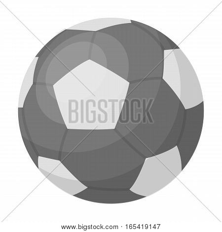 Green soccer ball icon in monochrome design isolated on white background. Brazil country symbol stock vector illustration.