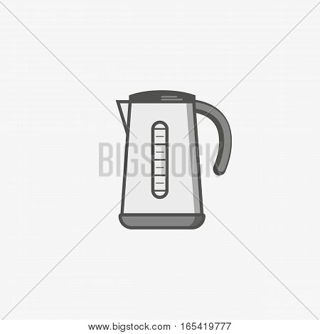 A simple flat icon for electric kettle to boil water for tea or coffee of something else