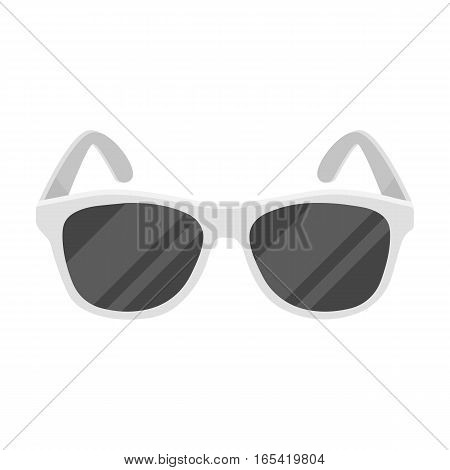 Yellow trendy sunglasses icon in monochrome design isolated on white background. Brazil country symbol stock vector illustration.