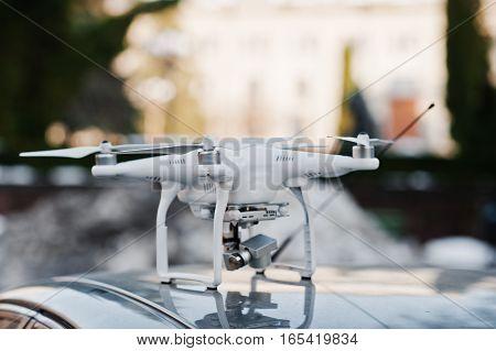 Hai, Ukraine - January 5, 2017: Quadrocopters 4 Phantom On Car.