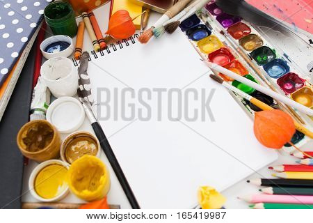 Art Drawing Painting Dye Color Mockup Workshop Artist Creativity Craft Inspiration Mess Hobby Concept