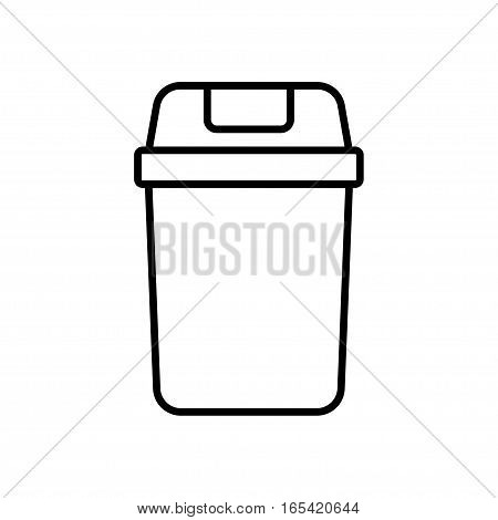 flat trash icon isolated on white vector illustration