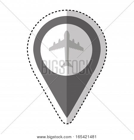 airport location traffic signal information icon vector illustration design