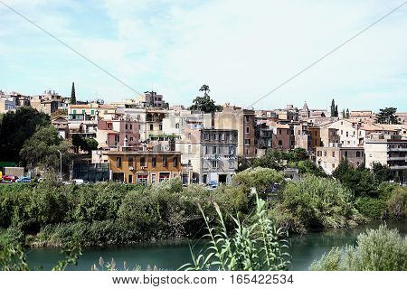 View of the town of Tivoli, Italy