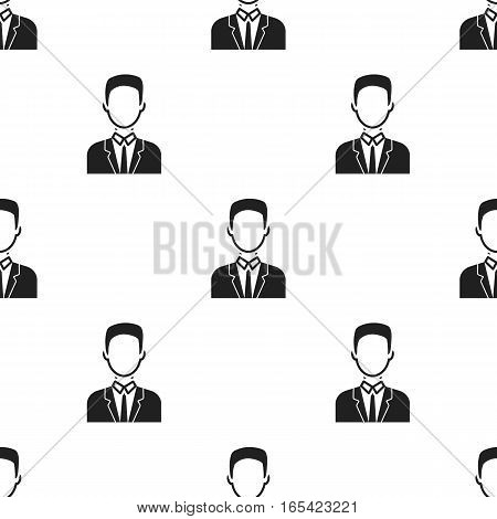 Businessman icon black. Single avatar, peaople icon from the big avatar black. - stock vector