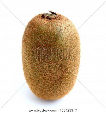 Brown kiwi fruit isolated over white background