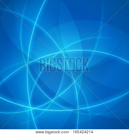 Smooth light blue waves lines vector abstract background. Good for promotion materials, brochures, banners. Abstract Backdrop, Technology Background. Glowing effects.