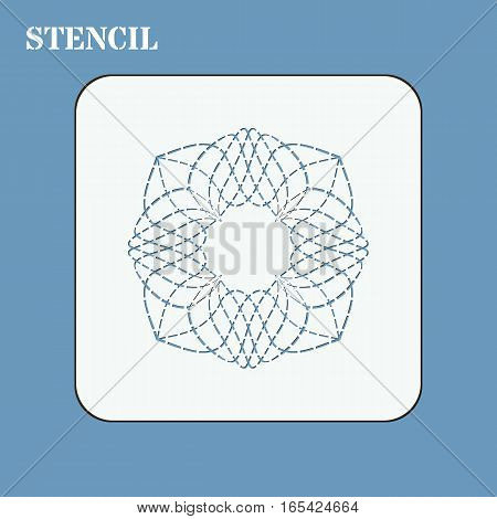 Stencil template for quilting. It can be used for laser cutting or punching. Stencil for paper plastic wood laser cut acrylic