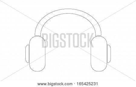 Vector - Headphones - Outline - Vektor -  - Icon, Symbol, Pictogram