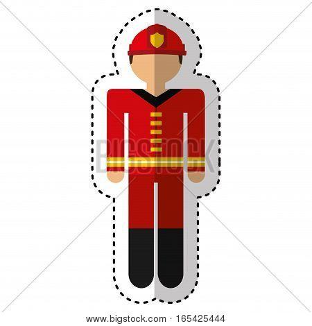 fireman avatar character icon vector illustration design