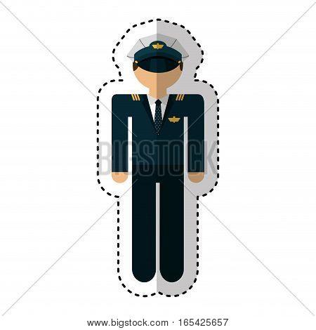 airplane pilot avatar character vector illustration design