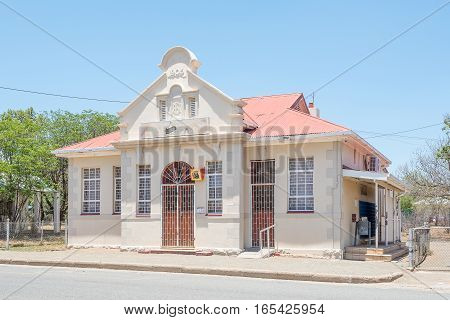 FAURESMITH SOUTH AFRICA - DECEMBER 31 2016: The historic Post Office in Fauresmith built in 1905