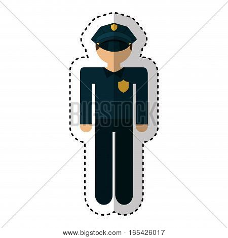 police agent avatar character vector illustration design