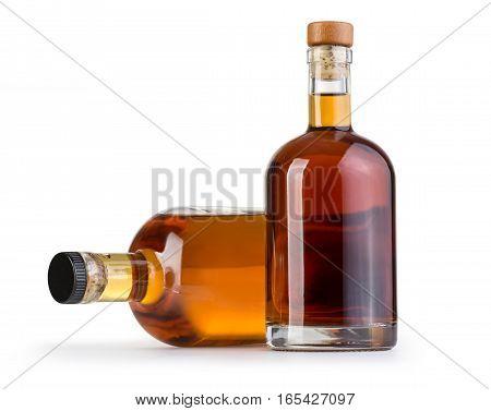 Full Whiskey Bottle Isolated